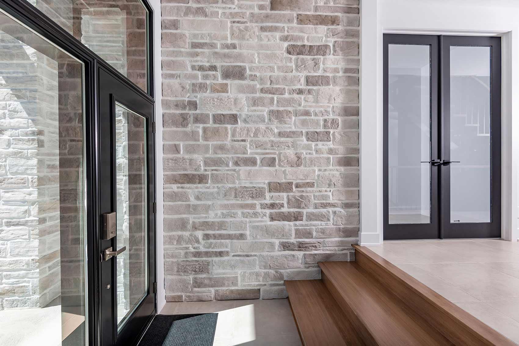 Maçonnerie alternative - Brique et pierre décorative